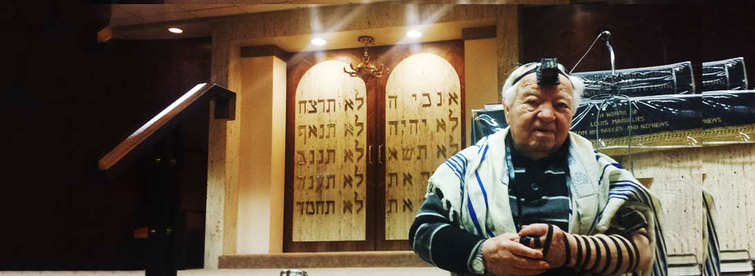 Temple Beth Ami Synagogue Philadelphia Bema With Sonny during Sunday prayers.
